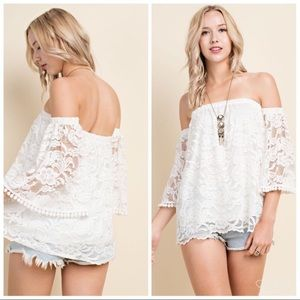 Tops - NEW Off Shoulder Lace Blouse